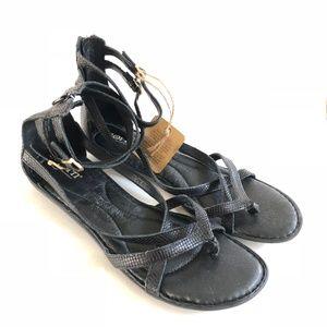 1c6b04b50dee Born Shoes - Born Womens Mai Gladiator Sandal Leather 10